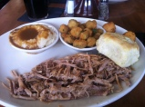 Pulled Pork and Deep Fried Okra, The Pit, Raleigh, NC